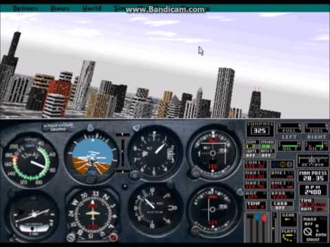 Flight Simulator Comparison, Downtown Chicago and Meigs Field