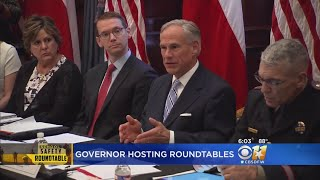 Texas Gov. Abbott Holds First Series Of School Safety Discussions