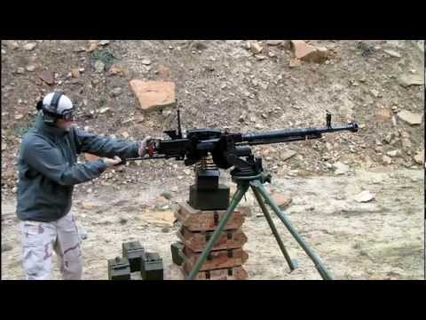 Shooting a DShK Heavy Machine Gun