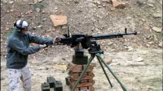Shooting a DShK Heavy Machine Gun
