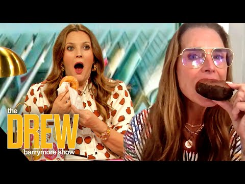 Drew and Brooke Shields Eat Donuts Together to Make a Fans Dream Come True   Dear Drew