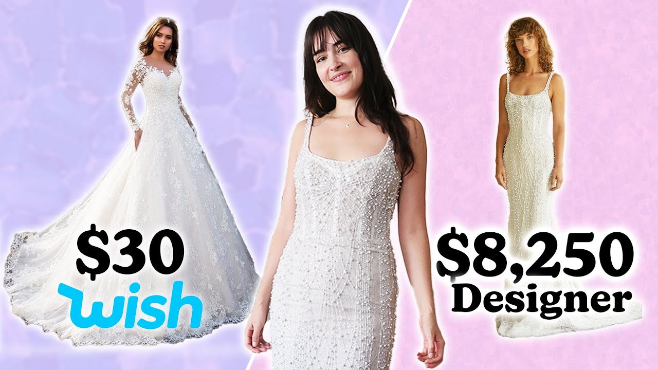 $27 Vs. $8,250 Wedding Dress