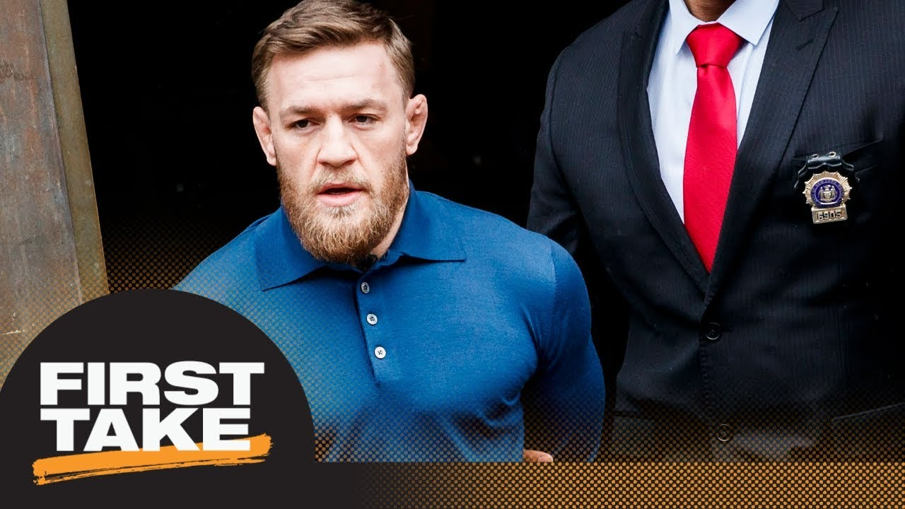 First Take reacts to Conor McGregor's UFC 223 media day attack and arrest | First Take | ESPN