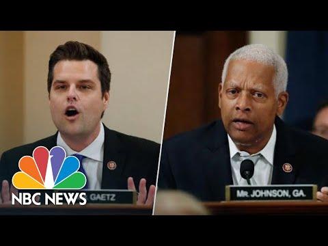 Johnson Checks Gaetz For Bringing Up Hunter Biden's Past Substance Abuse | NBC News