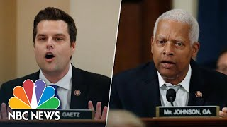 Johnson Checks Gaetz For Bringing Up Hunter Biden's Past Substance Abuse | NBC News Video