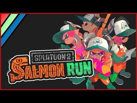 Splatoon 2 Salmon Run CO-OP PvE HORDE MODE!