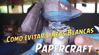 3 TRUCOS que utilizo para evitar lineas blancas en Papercraft - Tutorial #17