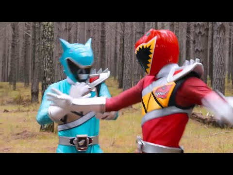 Aparece el Ranger Aqua - Tyler se reencuentra con su padre | PR Dino Super Charge Capitulo 5