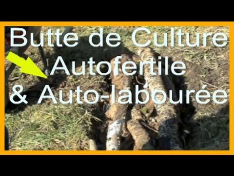 """Butte de Culture Autofertile avec du bois (""""Hugelkultur"""")"""