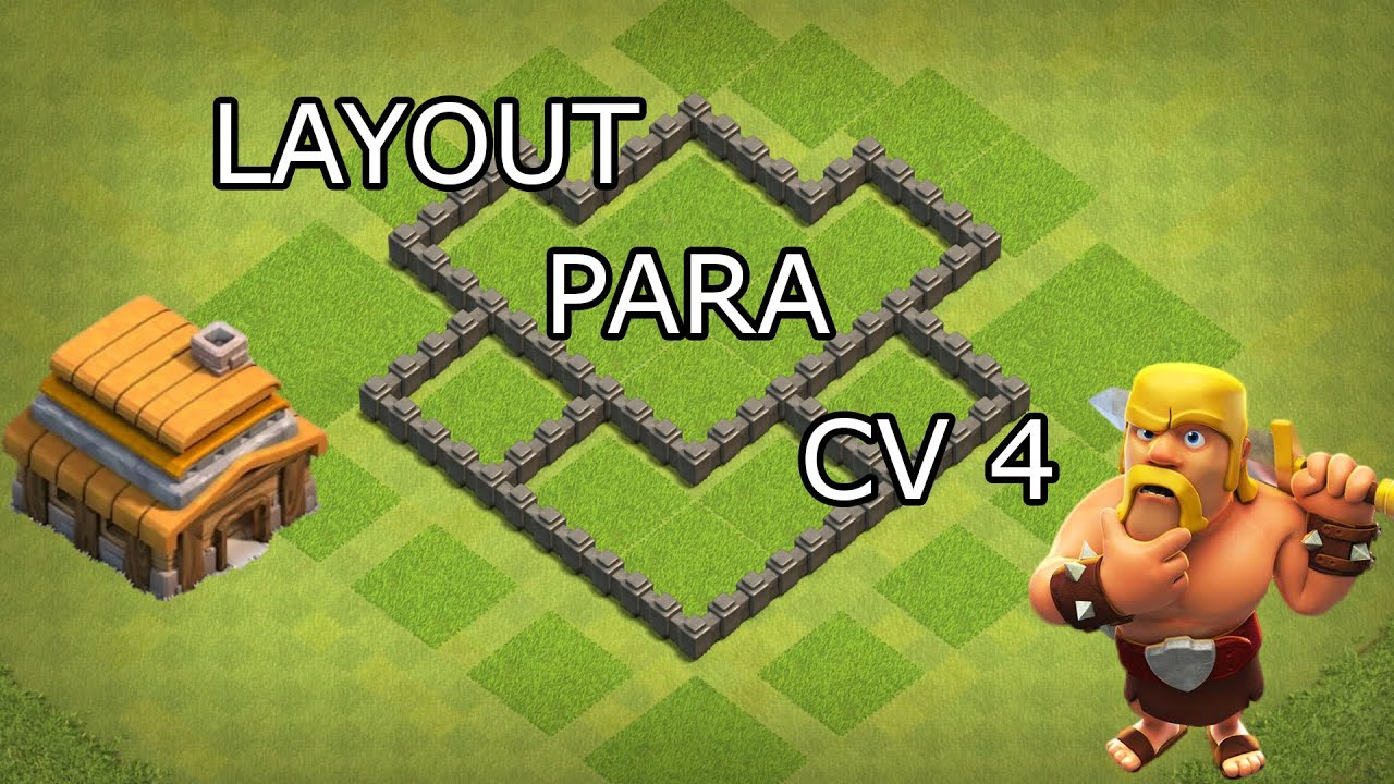 layout cv 4 hibrido - clash of clans