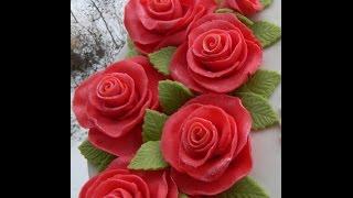 ШОК! Розы Без Спец.Инструментов/ #Роза с мастики МК/ Цветы с мастики