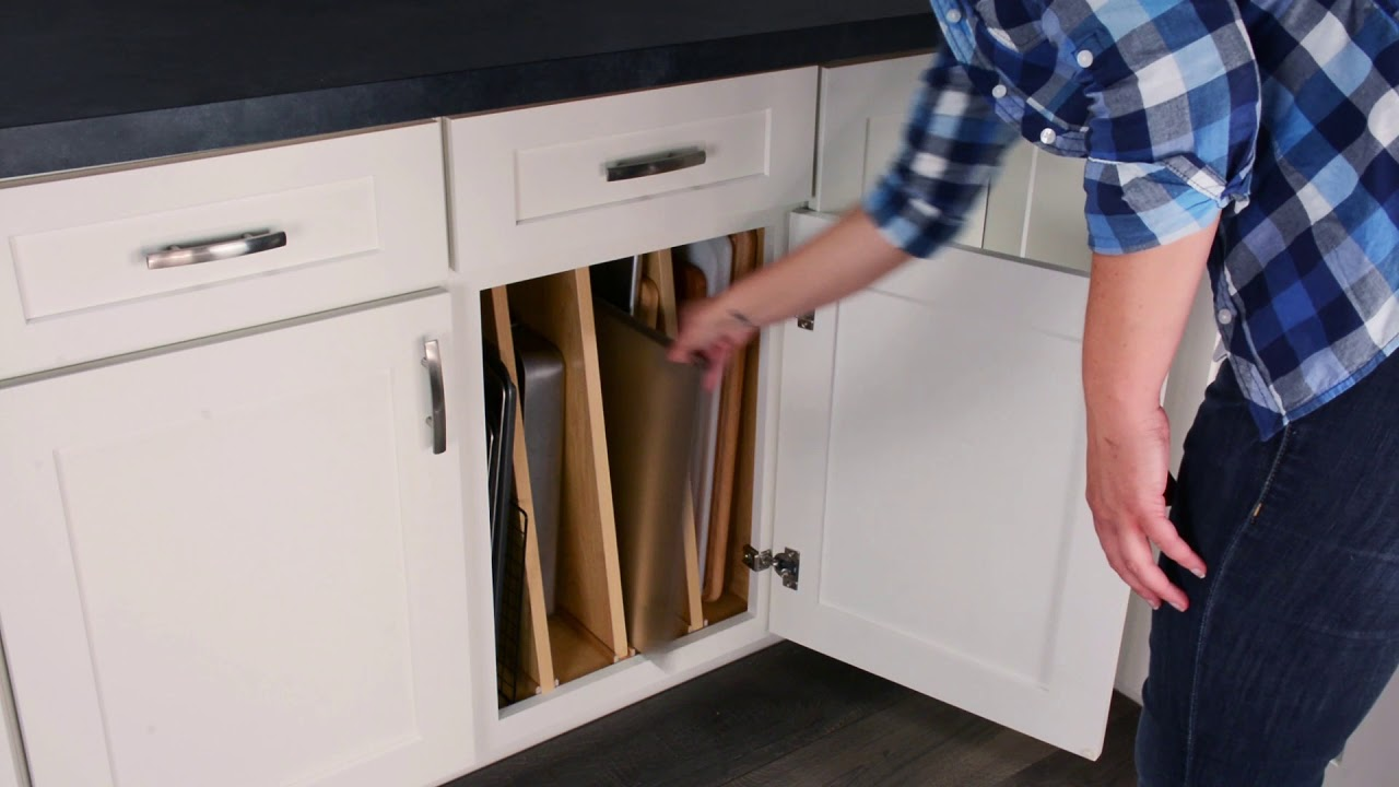 Tray Divider Base Cabinet - YouTube