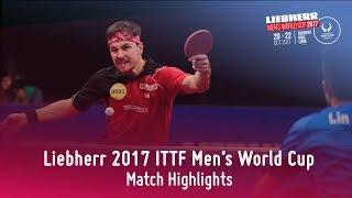 2017 Men's World Cup Highlights I Timo Boll vs Lin Gaoyuan (1/4)