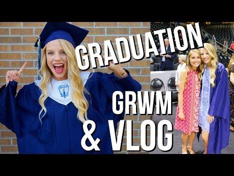 Graduation Day Vlog!!   Day in my life graduation, GRWM, & vlog