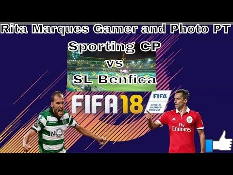 FIFA 18 MODO CARREIRA 1º Jogo Liga NOS SportingCP vs Sport Lisboa e Benfica (Xbox One)