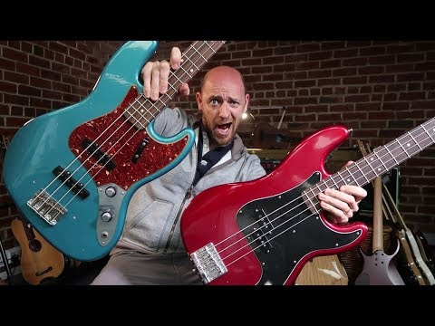 Jazz Bass Vs Precision Bass - can YOU tell the difference?!