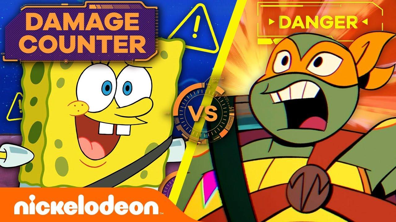 SpongeBob vs. TMNT: Most Explosive CAR CHASE 💰 Damage Counter