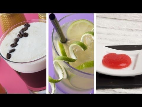 Irish Coffee + Collins Lemon + Guinda: Ravioli esférico