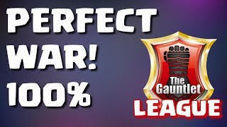 GAUNTLET LEAGUE NO DIP - PERFECT WAR RECAP - GUNS & HONEY VS BOUNTY HUNTERS | Mister Clash