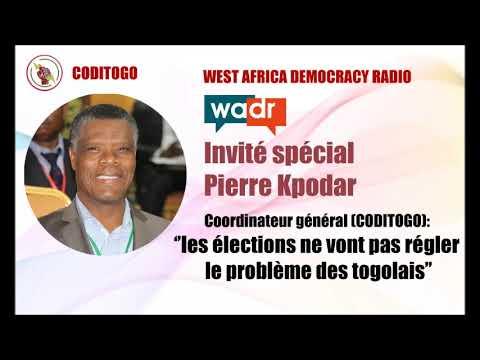 Pierre Ekué Kpodar (CODITOGO) sur les ondes de WEST AFRICA DEMOCRACY RADIO