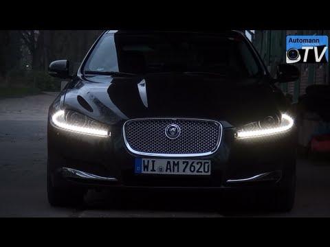 2013 Jaguar Xf 2 2 D Facelift 200hp Autobahn Test 1080p Full Hd