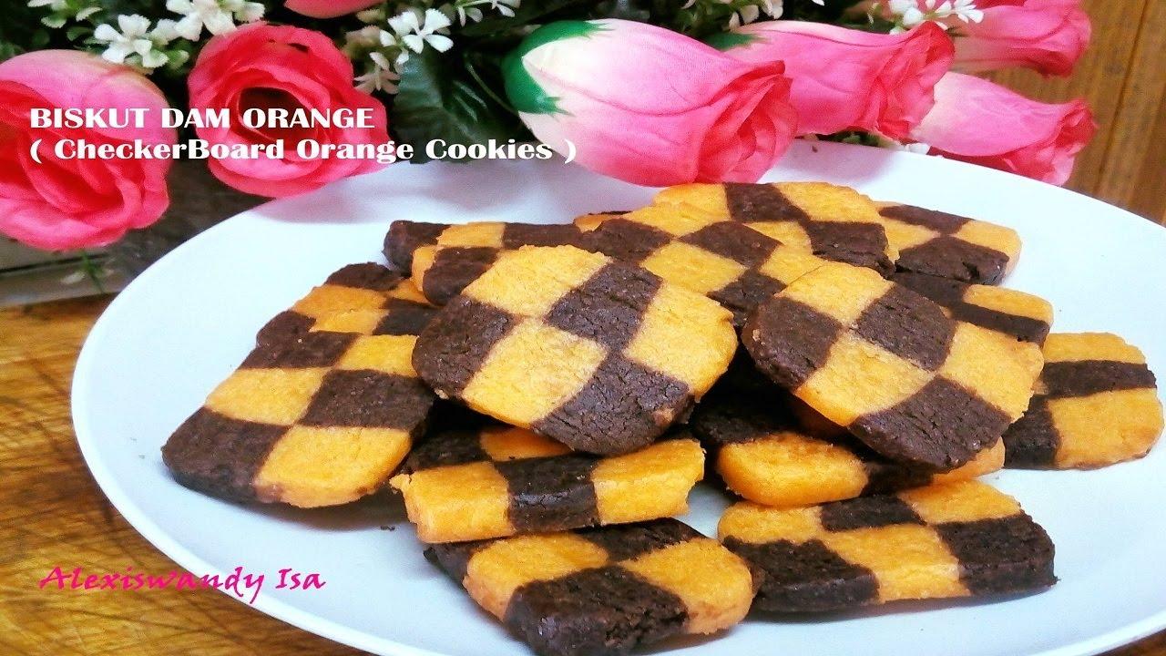 Biskut Dam Orange Checkerboard Orange Cookies Resepi