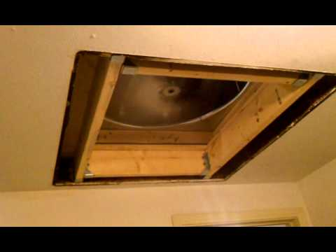 Master Flow Whole House Fan from Home Depot - YouTube
