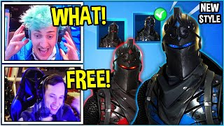 Streamers REACT to *NEW* BLUE BLACK KNIGHT Style *OG Skin* In Fortnite!