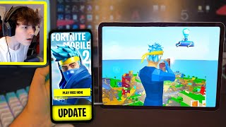 I Downloaded Fortnite Mobile 2 EARLY... (its back)