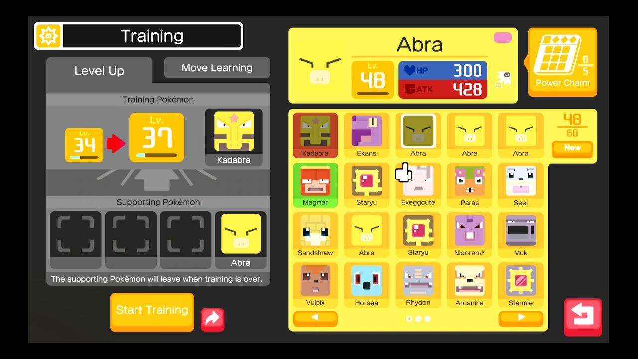 [Pokemon Quest] Evolution Level: Abra to Kadabra (Lv 16 ...