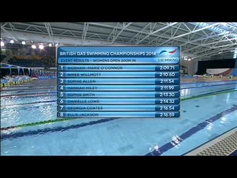 British Gas Swimming Championships 2014 - Finals Day Four
