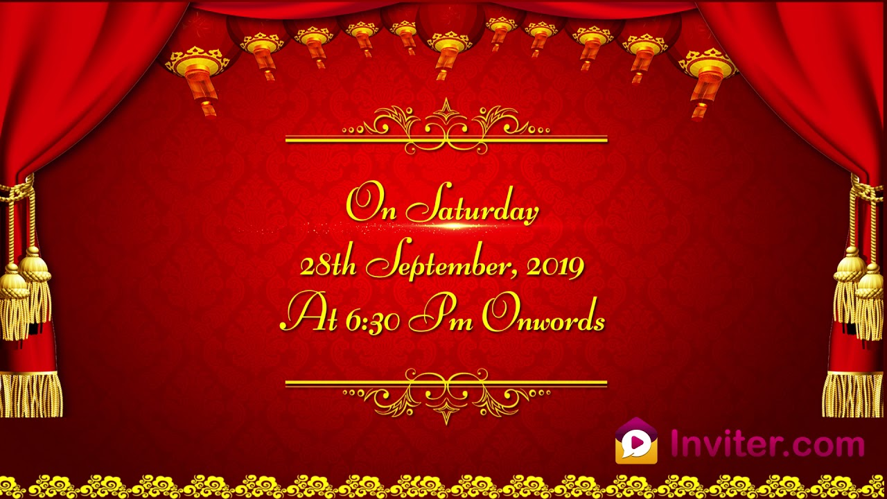 Latest 2019 Whatsapp Upanayanam Ceremony Invitation Video Inviter Com