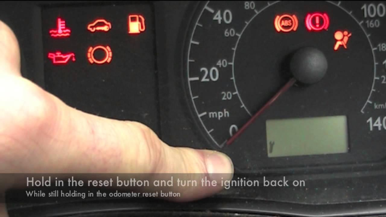vw polo service light reset - youtube