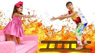 Nastya y Artem juegan juegos divertidos para no aburrirse en casa