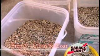 Roll-On Rock Epoxy Floor Coating - Step 3: Clean & Coat