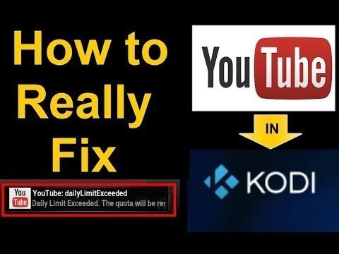 YouTube Errors in KODI - How to fix 'em