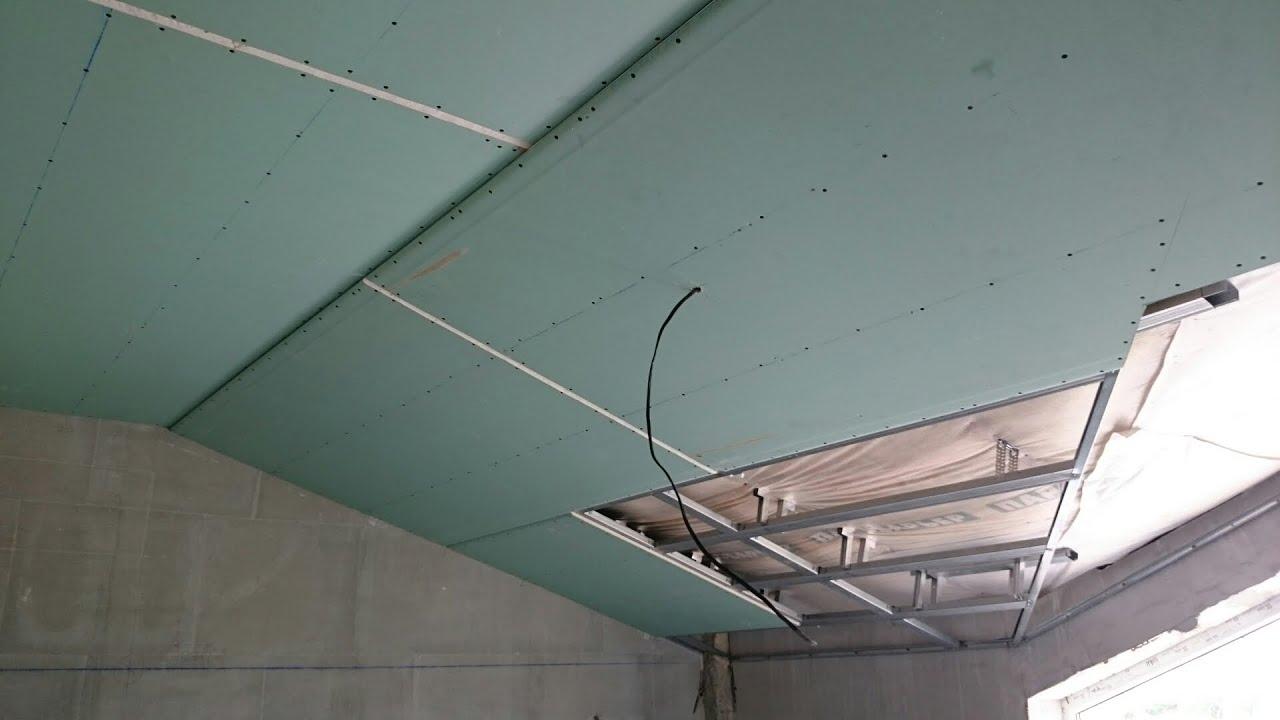 Подвесной потолок из гипсокартона своими руками 70