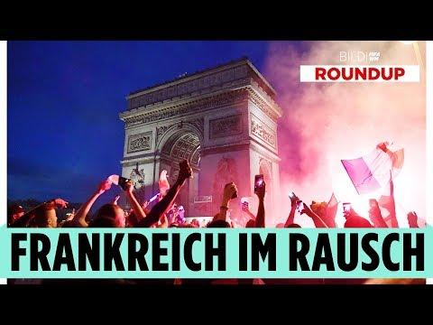 So rasteten die Frankreich-Fans in Paris bei jedem Tor aus!