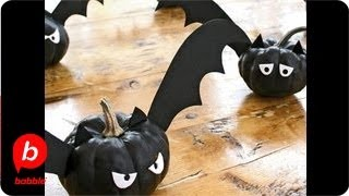 Bat-o'-lantern Mini-pumpkin Halloween | Crafts | Babble