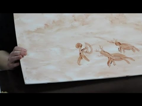 making-paint-for-a-cave-painting-with-kids-:-craft-projects-with-paint