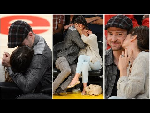 Justin Timberlake and Jessica Biel's Kiss Cam Makeout