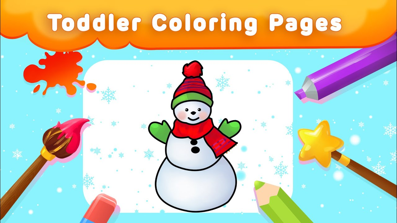 Winter coloring pages for kids ! Christmas Special from Clapenjoy