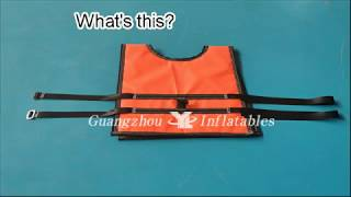 Bungee Vest for Inflatable Hungry Hippo