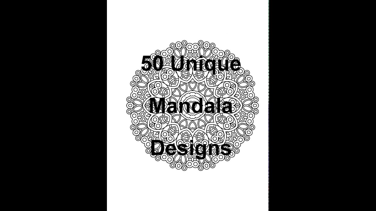 The Less Stress Mandala Coloring Book For Adults Volume 1 Preview