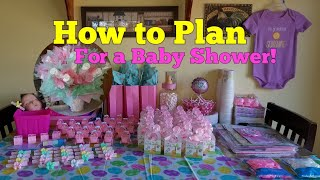 Planning a Baby Shower / Diaper Bouquet!