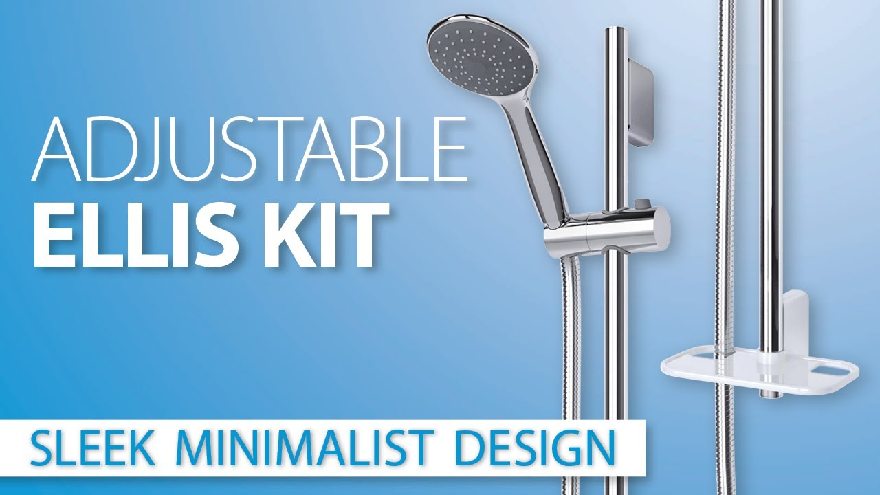 Ellis Adjustable Shower Accessory Kit - YouTube