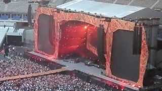 The Rolling Stones - Intro + Jumpin' Jack Flash - live in Paris Stade de France 13-06-2014