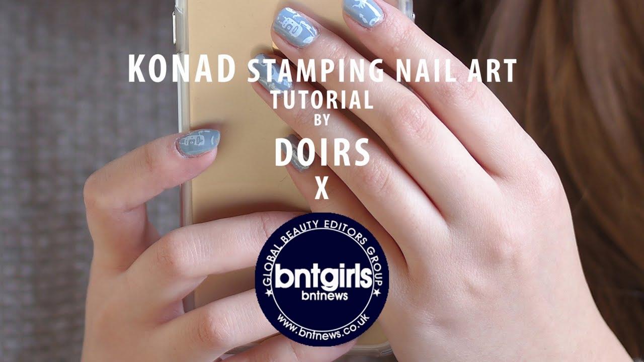 Tutorial - Konad Stamping Nail Art Kit - YouTube