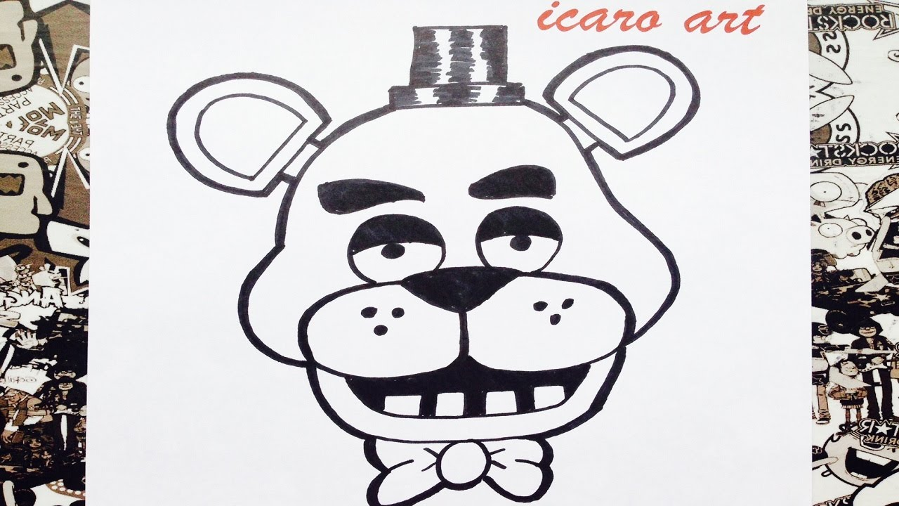 Como dibujar a freddy paso a paso  how to draw freddy step by