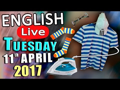 Learn English Live - TUESDAY APRIL 11th 2017 - English Lesson with Duncan - English listening